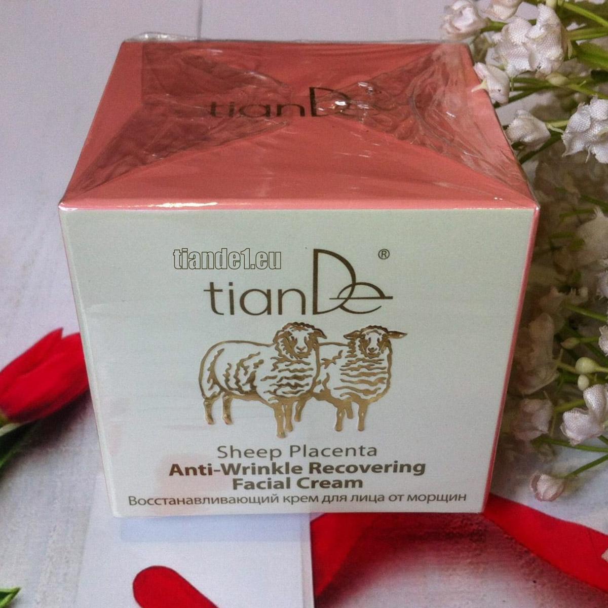 Регенериращ крем за лице с плацента против бръчки - TianDe..