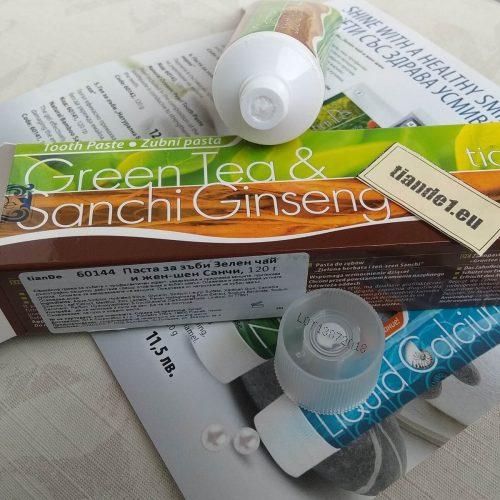 Паста за зъби Зелен чай и женшен