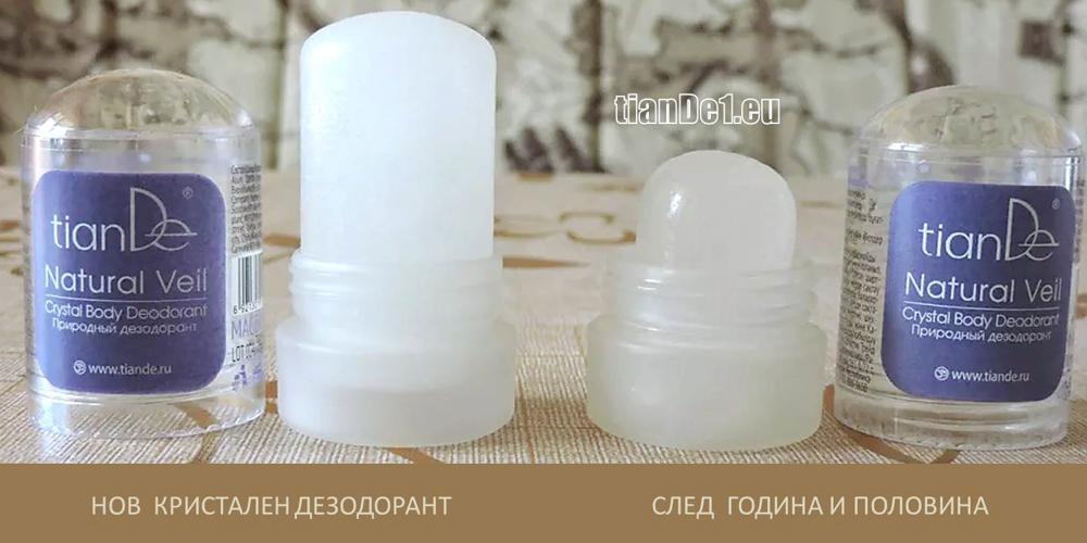 Кристален дезодорант TianDe - кристал алунит, стипца