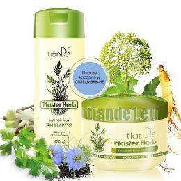 Комплект за коса против оплешивяване Master herb