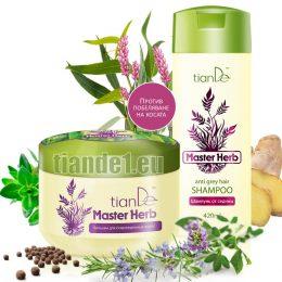 Комплект за коса против побеляване Master herb