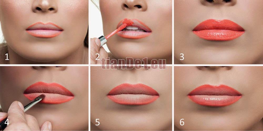 Омбре устни с червило и молив TianDe