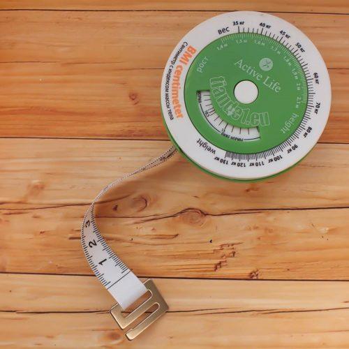 Сантиметър с индекс на телесната маса
