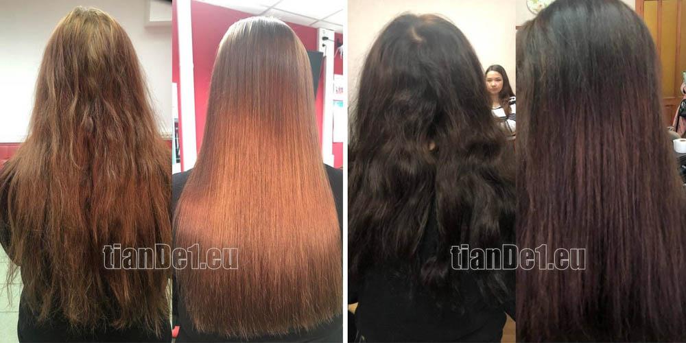 БИО ламиниране на косата - резултати