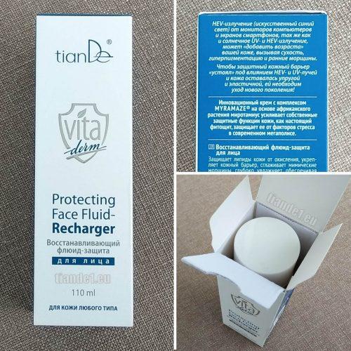 Регенериращ и защитен флуид за лице, Вита Дерм