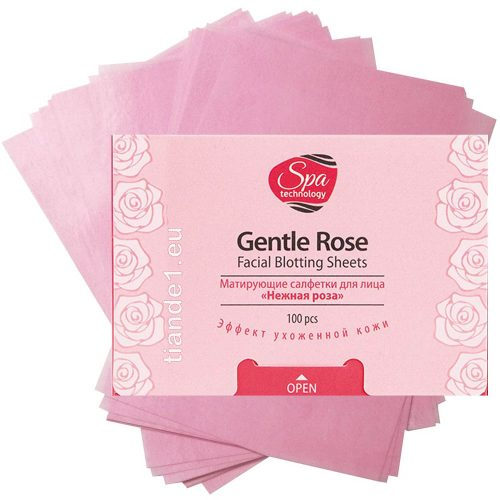 Матиращи кърпички за лице Роза